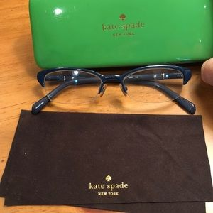 Kate Spade prescription glasses.  Dark blue